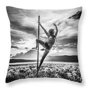Pole Dance Reach Hdr Throw Pillow