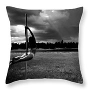 Pole Dance Storm 1 Throw Pillow