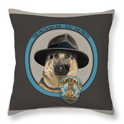 Police Dog Throw Pillow