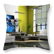 Police Drone Art Throw Pillow