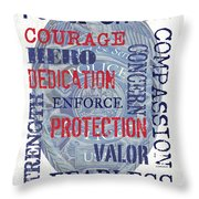 Police Inspirational 1 Throw Pillow