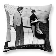 Police Lineup, 1953 Throw Pillow