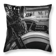 Police Milwaukee Throw Pillow