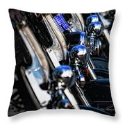 Police Motorcycles Throw Pillow