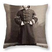 Police Officer Throw Pillow by Granger