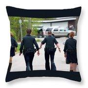 Police Pants Throw Pillow