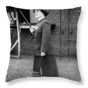 Policewoman, 1909 Throw Pillow