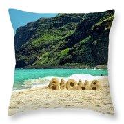 Polihale Aloha Throw Pillow