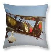 Polikarpov I-15bis Throw Pillow