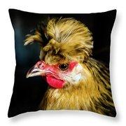 Polish Hen Throw Pillow