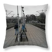 Polish Train Station Throw Pillow