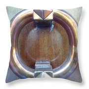 Polished Door Knocker Throw Pillow