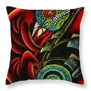 Political Chameleon Throw Pillow