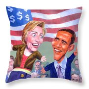 Political Puppets Throw Pillow