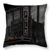 Polk Movie House Throw Pillow