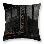 Polk Movie House Throw Pillow by David Lee Thompson