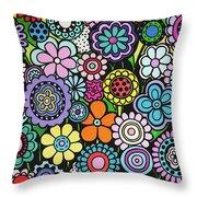 Polka Dot Bouquet Throw Pillow