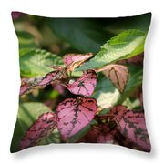 Polka Dot Plant Throw Pillow