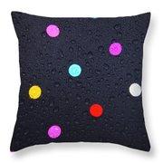 Polka Dot Umbrella Throw Pillow