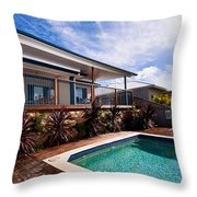 Poll And House With Deck Throw Pillow