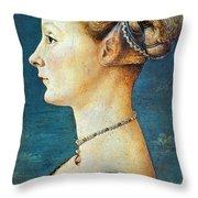Pollaiuolo: Young Woman Throw Pillow