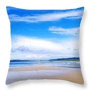 Pollan Strand, Inishowen, County Throw Pillow