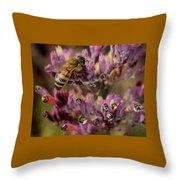 Pollen Bees Throw Pillow
