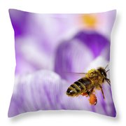 Pollen Collector Throw Pillow