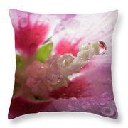 Pollen Droplet Throw Pillow