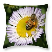 Pollen Harvest Throw Pillow