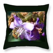 Pollinating 1 Throw Pillow