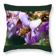 Pollinating 2 Throw Pillow