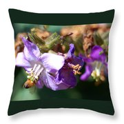 Pollinating 3 Throw Pillow