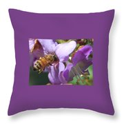 Pollinating 5 Throw Pillow
