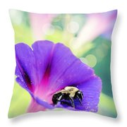 Pollinating The Glories Throw Pillow