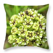 Pollination Happening Throw Pillow