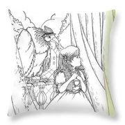 Polly And Tammy On The Balcony Throw Pillow