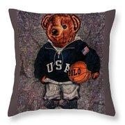 Polo Bear Sport Throw Pillow