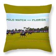 Polo Match Florida Throw Pillow