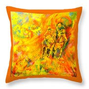 Poloplayer Throw Pillow