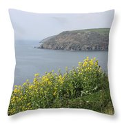 Polperro To Looe Throw Pillow