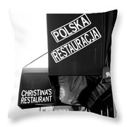 Polska Restauracja Throw Pillow
