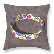 Poly Ring  Throw Pillow