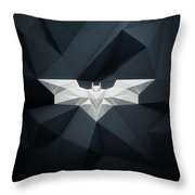 Polygon Batman Logo - 7515 Throw Pillow