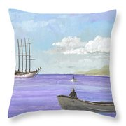 Polynesia Ex Argus Throw Pillow