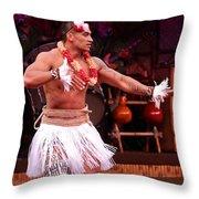 Polynesian Warrior Dancer Throw Pillow