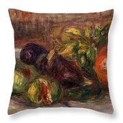 Pomegranate And Figs Throw Pillow