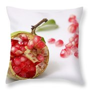 Pomegranate And Seeds  Throw Pillow