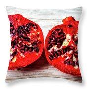 Pomegranate Cut In Half Throw Pillow