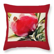 Pomegranate On A Pineapple Stalk Throw Pillow